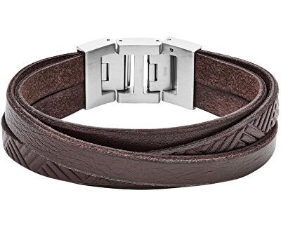 Hnedý kožený náramok JF02999040