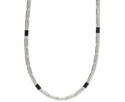 Pánsky oceľový náhrdelník s acháty JF02927040