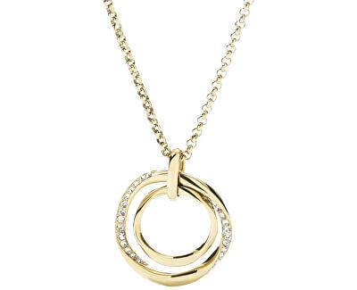 Pozlacený náhrdelník s elegantním přívěskem JF01613710