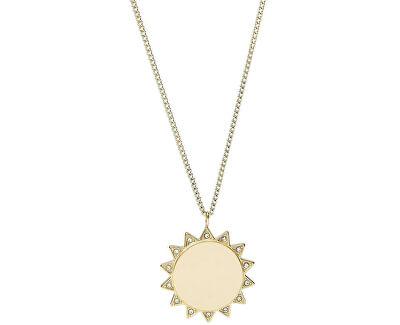 Pozlátený oceľový náhrdelník so slnkom JF03380710
