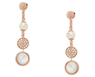 Romantické visací náušnice s perlou JF02958791