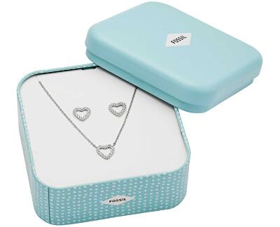 Srdíčková souprava šperků s kamínky JF03083040