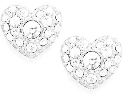 Třpytivé náušnice srdce JF01150040