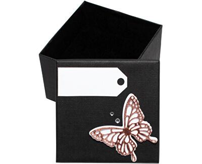 Luxusní dárková krabička s bronzovým motýlkem