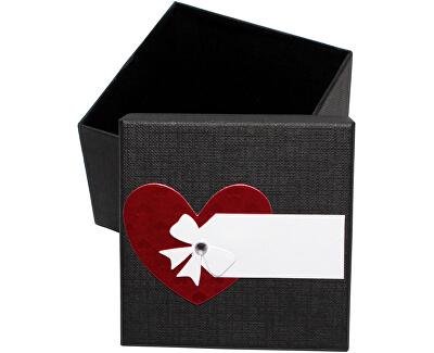 Luxusná darčeková krabička s červeným srdiečkom