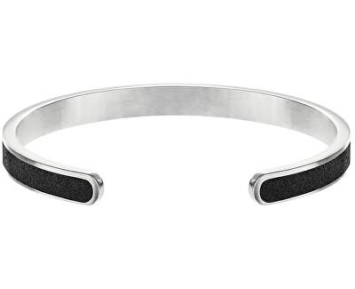 Pevný ocelový náramek s betonem Fusion Thin ocelová/atracitová GJBWSSA101UN