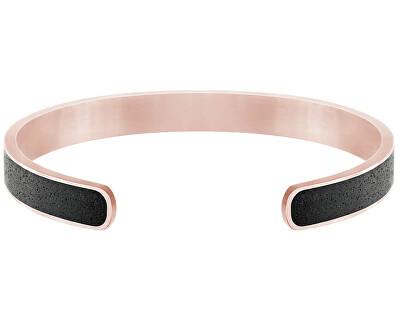 Pevný ocelový náramek s betonem Fusion Bold bronzová/atracitová GJBMRGA101UN
