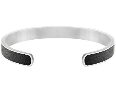 Pevný ocelový náramek s betonem Fusion Bold ocelová/atracitová GJBMSSA101UN