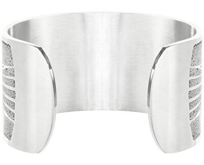 Pevný ocelový náramek s betonem Merge ocelová/šedá GJBWSSG105UN