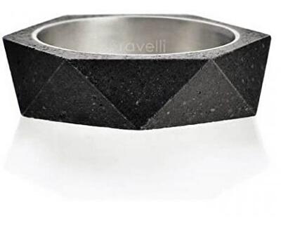 Betonový prsten antracitový Cubist GJRUSSA005