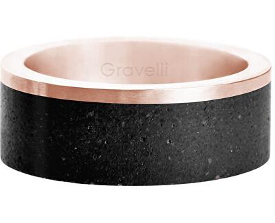 Betonový prsten Edge bronzová/černá GJRURGA002