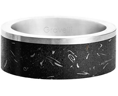 Stylový betonový prsten Edge ocelová/atracitová GJRUFSA002