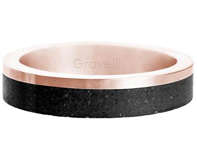 Betonový prsten Edge Slim bronzová/černá GJRURGA021