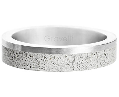 Betonový prsten Edge Slim ocelová/šedá GJRUSSG021