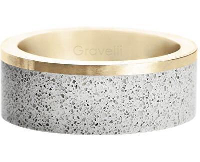 Betonový prsten Edge zlatá/šedá GJRUYGG002