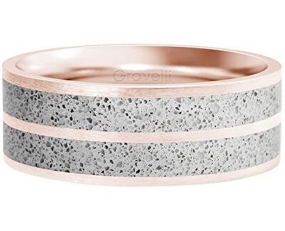 Betonový prsten Fusion Double line bronzová/šedá GJRWRGG112