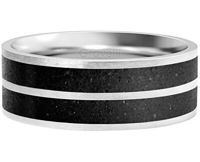 Betonový prsten Fusion Double line ocelová/antracitová GJRWSSA112