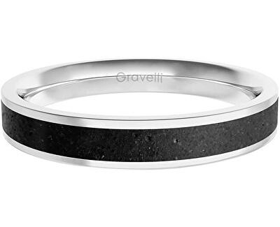 Prsten s betonem Fusion Thin ocelová/antracitová GJRWSSA101