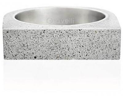 Betonový prsten šedý Stamp GJRUOG003