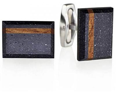 Manžetové gombíky z betónu a dreva Falcon Wood GJCMWOA004UN