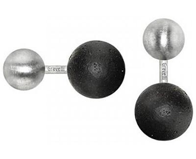 Manžetové knoflíčky z betonu a oceli Beads GJCMSSA001UN