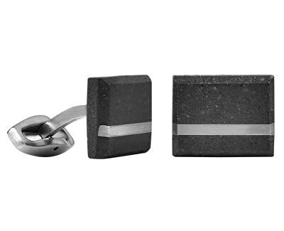 Manžetové gombíky z betónu a ocele Falcon Steel GJCMSSA004UN