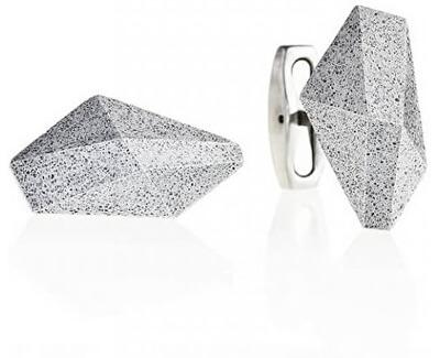 Manžetové knoflíčky z oceli a betonu Crystal GJCMNAG005UN