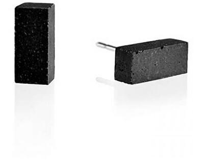 Náušnice z betonu Block GJEWNAA004UN