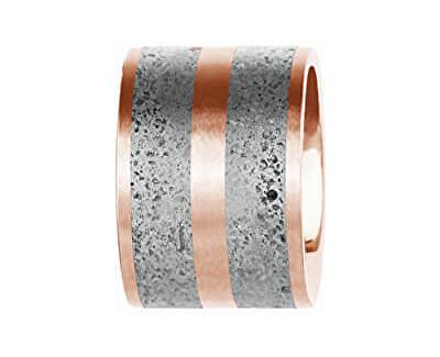 Ocelový přívěsek s betonem bronzová/šedá Fusion GJPWRGG101UN