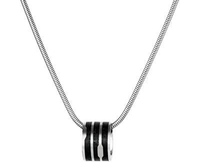 Ocelový náhrdelník s přívěskem ocelová/antracitová Flow Snake Chain (řetízek, přívěsek)
