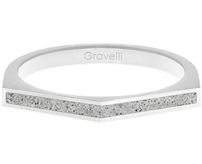 Ocelový prsten s betonem Two Side ocelová/šedá GJRWSSG122