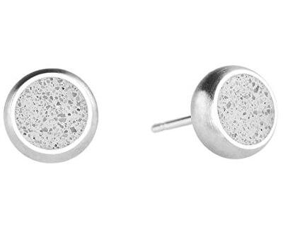 Peckové náušnice z betonu Minimalist GJEWSSG002UN