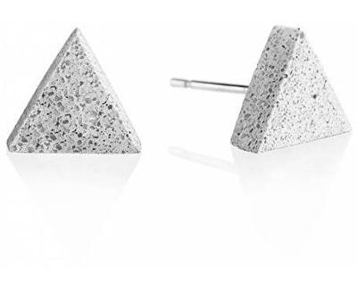 Peckové náušnice z betonu Triangle GJEWNAG003UN