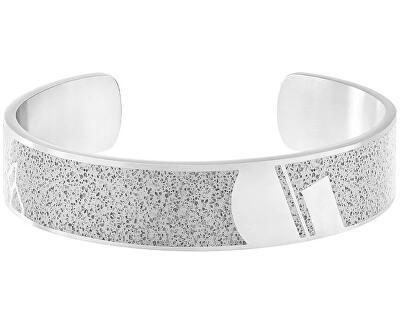 Pevný ocelový náramek s betonem Crush ocelová/šedá GJBMSSG103UN