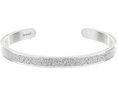 Pevný ocelový náramek s betonem Fusion Thin ocelová/šedá GJBWSSG101UN