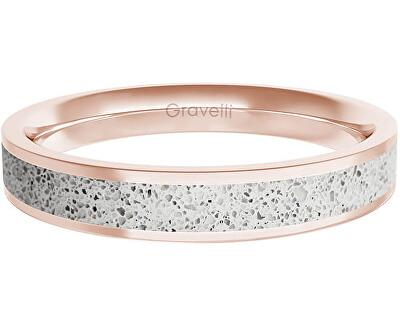 Prsten s betonem Fusion Thin bronzová/šedá GJRWRGG101