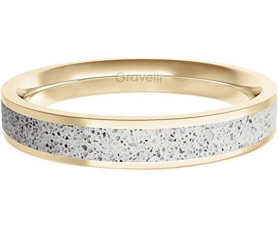 Prsten s betonem Fusion Thin zlatá/šedá GJRWYGG101
