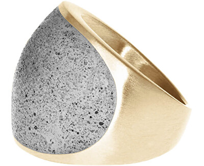 Prsten s betonem Swell zlatá/šedá GJRWYGG109