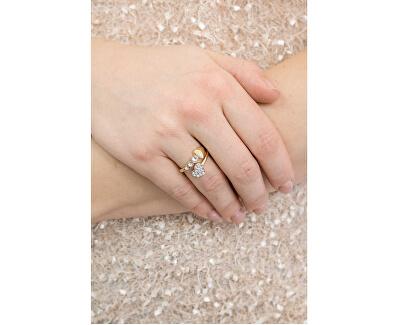 Srdíčkový prsten s krystaly UBR84053