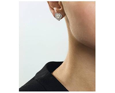 Srdíčkové náušnice s krystaly UBE78054