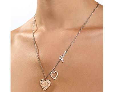 Stylový náhrdelník se srdíčky UBN78066