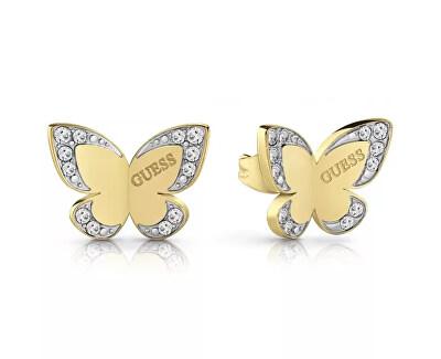 Luxusní náušnice s motýlem UBE78011