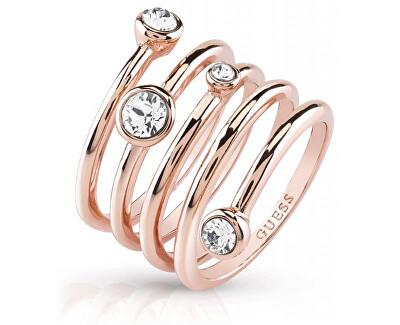 Guess Luxusní spirálovitý prsten UBR84057