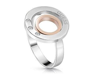Módní prsten s krystaly UBR29009