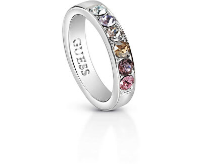 Nadčasový prsten s krystaly UBR83037