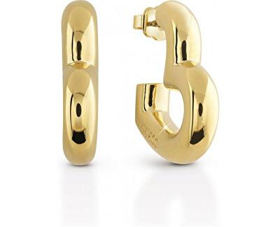 Guess Pozlacené náušnice otevřená srdíčka UBE83010