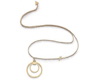 Pozlacený náhrdelník s výrazným přívěskem UBN29031