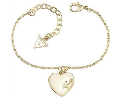 Aranyozott karkötő szívvel UBB61045-S - KEDVEZMÉNY