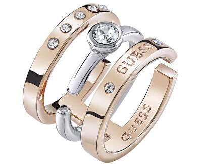 Stylový bicolor prsten UBR84044