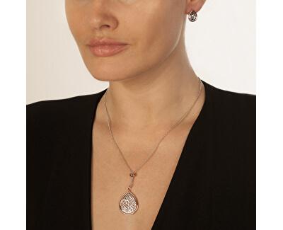 Bicolor náušnice Hot Diamonds Luxury DE529